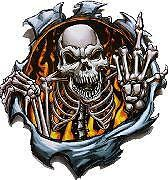 Burning Skeleton Sticker Decal