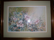 Leila Desiree Platt signed and numbered Floral Framed Print