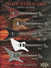 Jackson JS Series Randy Rhoads Dinky King V Kelly Warrior guitar 8 x 11 ad print