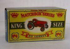REPRO BOX MATCHBOX KING SIZE K - 4 International TRACTOR