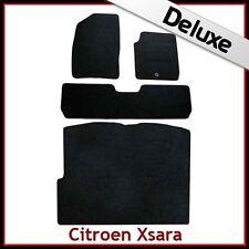 CITROEN XSARA PICASSO 2000-2010 Tailored LUX 1300g Carpet Car & Boot Mats BLACK