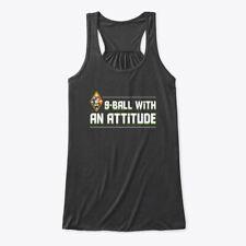 9 Ball With An Attitude Funny Saying Shi Bella Flowy Tank Tanktop