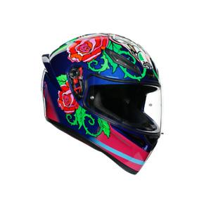 New AGV K1 Helmet Salom Blue/Pink/Green #750212331