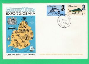 Mauritius FDC 1970 World Exhibition EXPO '70 overprinted 'Osaka' first day cover
