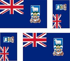 4x Falklands islands  flag decals sticker bike scooter car vinyl luggage helmet