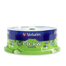 Verbatim Aust Rewriteable Disk CD-RW 25 Disc Pack Spindle 12x hi speed  # 95155