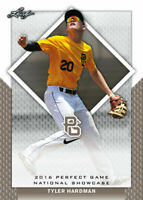 """""""RARE BLANK BACK PROOF"""" TYLER HARDMAN 2016 LEAF """"PERFECT GAME"""" ROOKIE CARD!"""