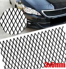 Universal Black Aluminium Racing Grille Mesh Vent Car Tuning Grill 3mm* 6mm Mesh