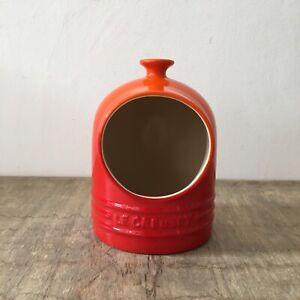 Le Creuset Salt Pig Original Shape Volcanic Red Orange 0.3L / 12oz Kitchen Pot