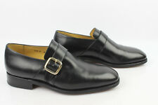 VINTAGE Mocassins Goodyear LOUIS BOSTON Tout Cuir Noir Uk 8,5 / Fr 42,5 TBE