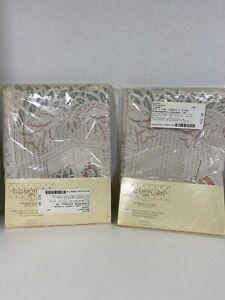 "Elizabeth Gray J.C.Penney Window Curtain Tiers Birdhouses Eggshell 72"" x 36"" New"