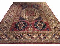 Hand-Knotted Tribal Kazak Design Wool Handmade Wool Rug 8.6 X 11.10 Brrsf-1191