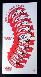 1987 Cincinnati Reds Media Guide ~ Pete Rose Manager