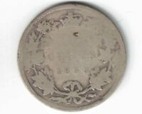 CANADA 1893 TWENTY FIVE CENTS QUARTER QUEEN VICTORIA STERLING SILVER COIN