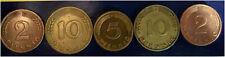 5 COINS ( 2 x 10 + 2 x 2 + 5 PFENNING ) - GERMANY