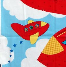 * Cranston VIP ~ SOARING SKIES ~ Stuffed Airplane Fabric Panel - 2004