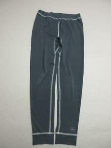 REI SIZE M(10-12) KIDS BLACK ATHLETIC OUTDOOR STRETCH BASE LAYER PANTS T599