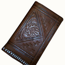 Moroccan Wallet Genuine Leather Bifold Coin Purse Credit Card  Pouch Men Women
