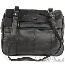 Ladies / Womens Soft Nappa Leather Casual Shoulder Bag / Handbag