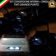 KIT LED INTERNI FIAT GRANDE PUNTO PLAFONIERA ANTERIORE + LUCE BAGAGLIAIO + TARGA