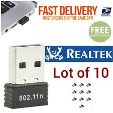 Lot of 10 RealTEK Mini USB Wireless 802.11B/G/N  WiFi Adapter Nano Wlan
