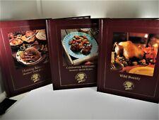 North American Hunting Club Wild Game Recipe Books, Hardback Lot of 3