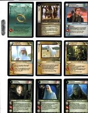 LORD OF THE RINGS LoTR THE TWO TOWERS ANTHOLOGY 18 CARD COMPLETE SET