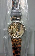 New Oui Art Jaguar Cheetah Watch Leopard Print Belt Citizen Japan Movement