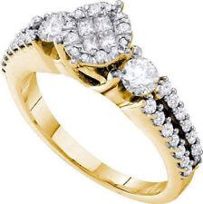 Cluster Ring aus Gelbgold mit Diamanten