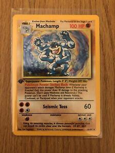 Machamp (holographic) 1st edition Pokemon Card - 1999 - 8/102