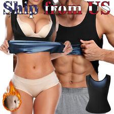 Women's & Man's Body Sweat Shaper Sauna Vest Slimming Gym Yoga Sports Thermal US