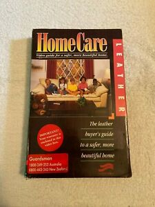 home care leather VHS video tape ONLY no cleaning ingredients, furniture.