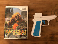 Cabela's Dangerous Hunts 2009 Wii Video Game with gun 🔫
