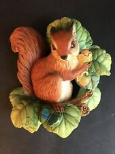 Vintage Bossons Squirrel Figurine Wall Hanging English Chalkware 1966