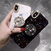 Glitter Bling Sparkle Case with  Up Phone Holder for iPhone X XR MAX 6 7 8