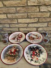 Pottery Barn Kids Nostalgic Santa Plates Tumblers Christmas Holiday Set