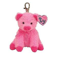 Ty Beanie Babies 40398 Silky The Pink Pig Key Clip