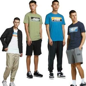 Jack And Jones T-Shirt Men's Short Sleeve Logo Print Crew Neck Cotton Casual Tee