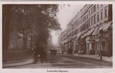 London Real Photo Postcard. Lowndes Sq. Chelsea. Cars Horse/Carriage. c 1907