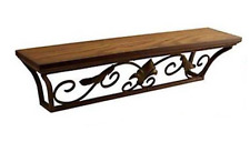 Wand-Konsole antik braun 110 cm Regal Wandregal Ablage Landhausstil Eisen neu