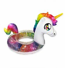 62-in Home Outdoor Swimming Pool Beach Inflatable Rainbow Unicorn Water Float