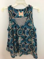 Meadow Rue Anthropologie Mixed Media Sleeveless Blouse/Top Medium