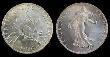 2 Francs 1916 Argent  Cote SUP 30€