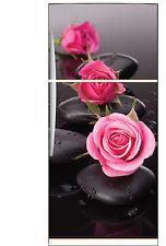 Sticker frigo frigidaire Roses galets 70x170cm réf 537+