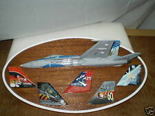 F-18 Hornet Half Size Model Plaque Wood Free Shipping