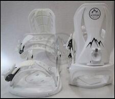 "NEW! MEN'S ""ALTITUDE"" 4X4 BURTON 3D EST SNOWBOARD BINDINGS (WHITE) S/M 5-8"