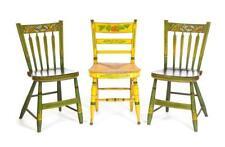 Three American Decorated Chairs. Lot 34
