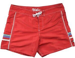 Hobie by Hurley Men's Red Nylon Retro Look Unlined Swim Board Shorts Size 40