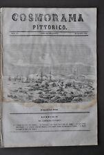 Cosmorama Pittorico Porto Blocco Pireo Grecia Scozia Porta Scandaglio Mare 1850