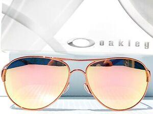 NEW* Oakley Caveat POLARIZED Rose Gold 60mm Aviator Womens Sunglass 4054
